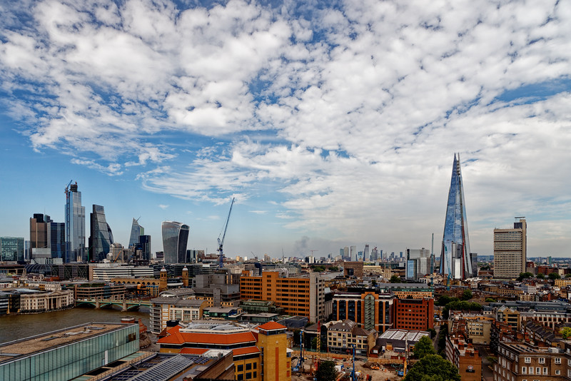 Ciry of London and Shard view from the Tate Mdern