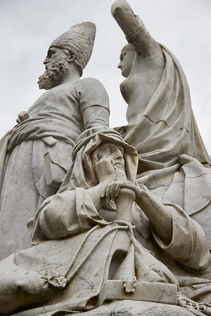 Detail of Albert Memorial in Hyde Park  depicting Asia one of the four represented continents, by sculptor J.H. Foley
