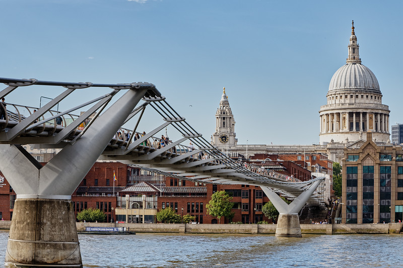 The Millenium Bridge and St Pauls Catherdral