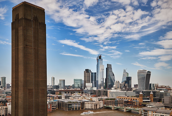 View from the Tate Modern to the City of London and Rver Thames