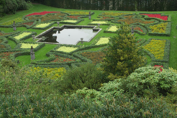 Another view from above of the gardens
