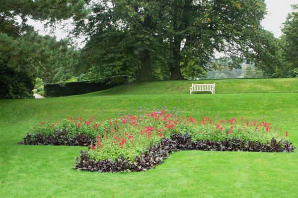 One of the small gardens in a very peaceful setting