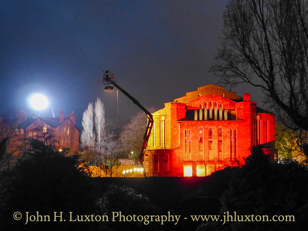 Filming The Responder at Greenbank Drive Synagogue, Liverpool - March 18, 2021