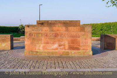 Entrance point to Otterspool Promenade near Otterspool Park.