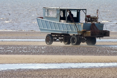 Shrimping at Formby Point