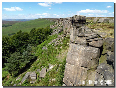 781_J7213244-UK : Stanage Edge in July.