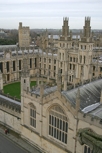 View from the tower of the University Church of St. Mary the Virgin, Oxford