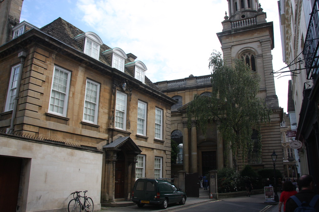 Lincoln College, Oxford, Rector's lodging and library view from Turl St