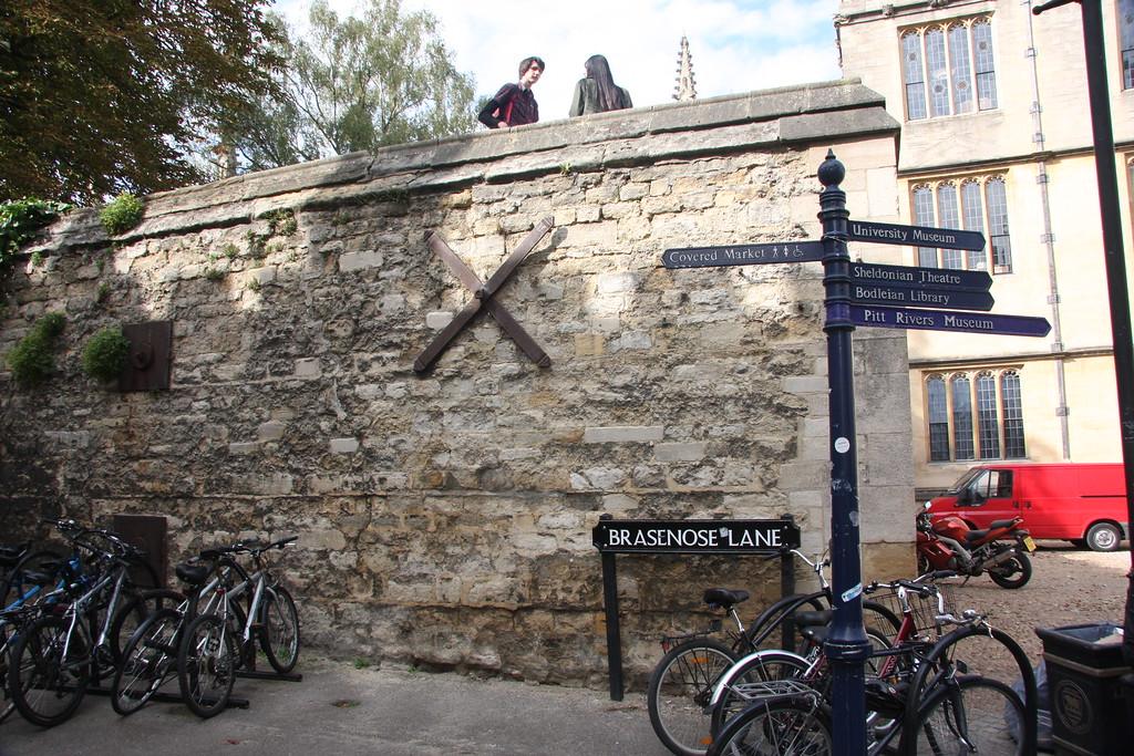 Brasenose Lane at Radcliffe Camera, Oxford University.