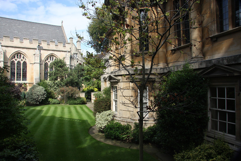 Lincoln College, Oxford, Rector's garden view toward the Chapel