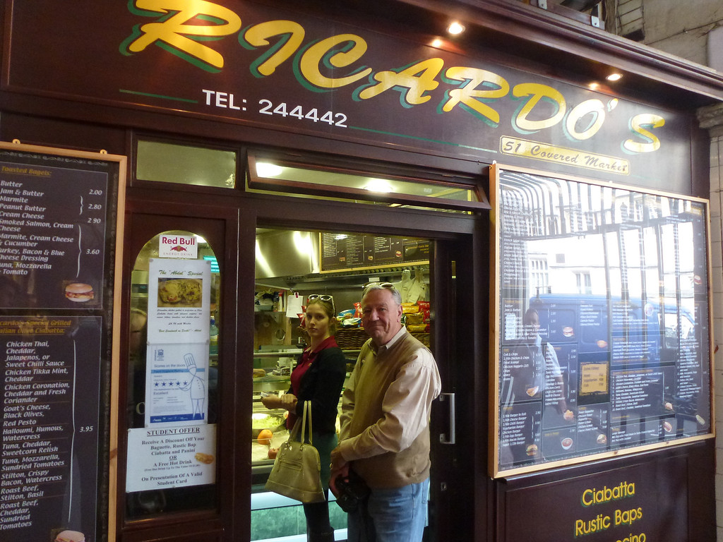 Ricardo's, they really are great sandwiches... Inside the covered Market, Oxford.