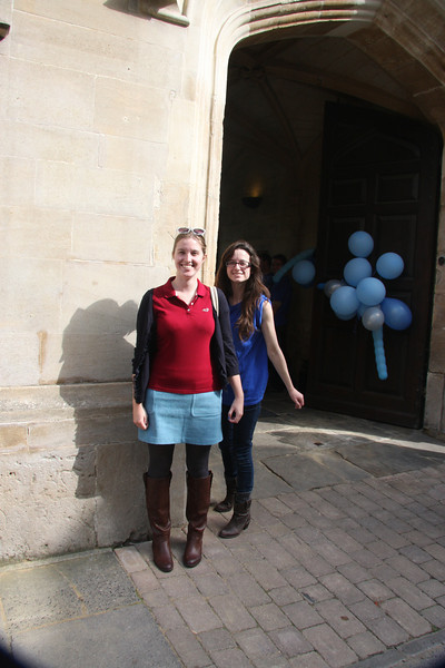 Lincoln College, Oxford, open day with Jen and friend.
