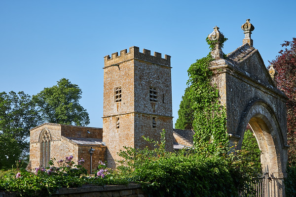 The Norman church of St Mary's in the village of Chastleton, Oxfordshire