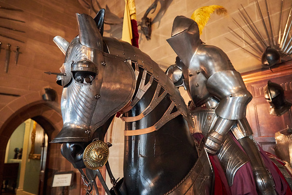 Medieval armour in Warwick Castle