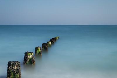 Groynes on East Preston Beach, West Sussex