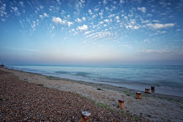 Dusk on East Preston Beach, West Sussex