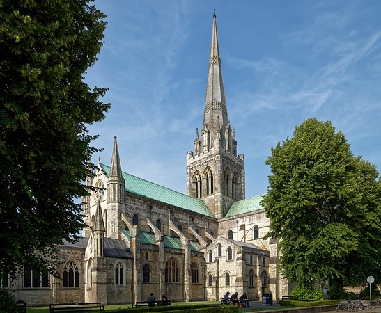 Chichester Cathedral in West Sussex, founded as a cathedral in 1075