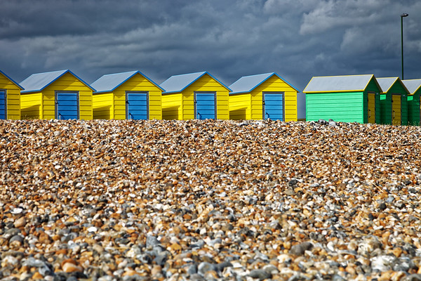Beach huts, Worthing, West Sussex