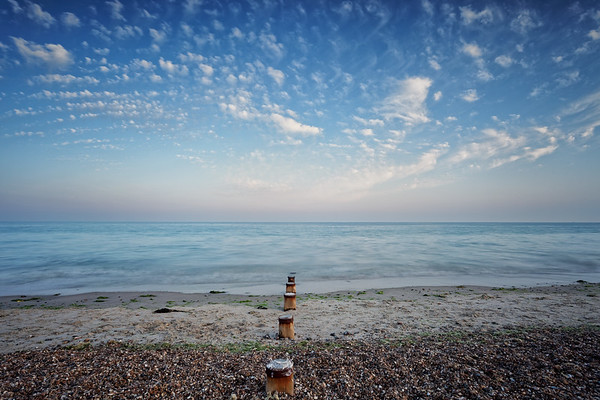Groynes on East Preston Beach, West Sussex