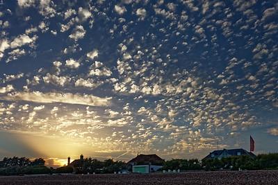 Sunset on East Preston Beach, West Sussex