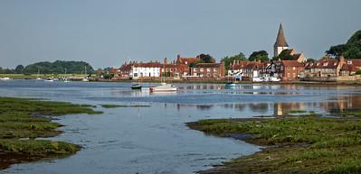 Bosham harbour with Saxon  Holy Trinity Church, West Sussex