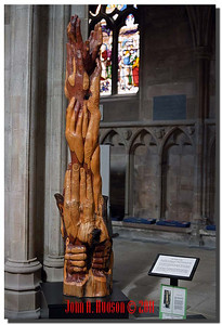 """1412_2006002-R4-C1-NCS-England : """"Praying Hands"""" on display at Rochester Cathedral, Rochester, Kent"""
