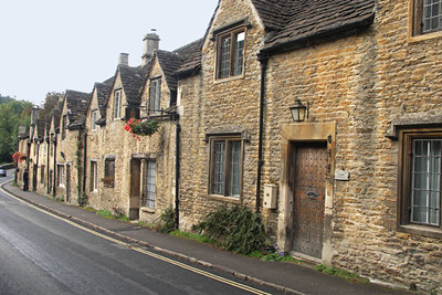 This row of houses is on the main street of Castle Combe.