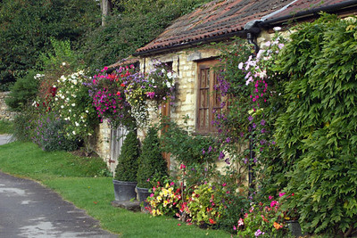 Again, a picture perfect cottage, festooned with flowers