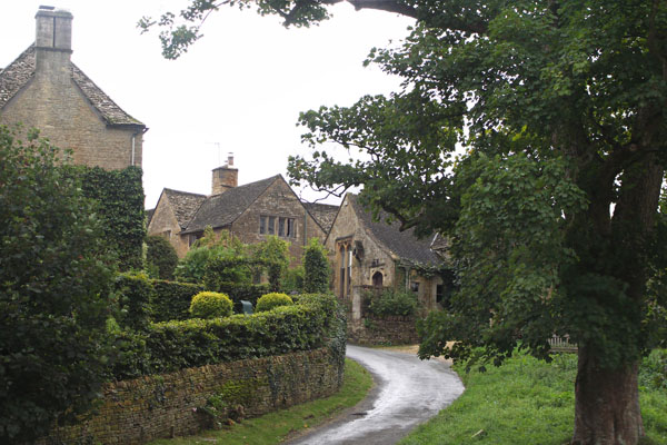 """Another view of the same scene in Upper Slaughter. The name """"Slaughter"""" does not refer to killing, but rather derives from an old English word, Slohtre, meaning """"muddy stream""""."""