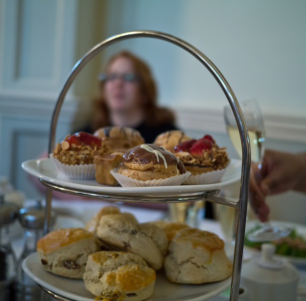 The cakes in our afternoon tea