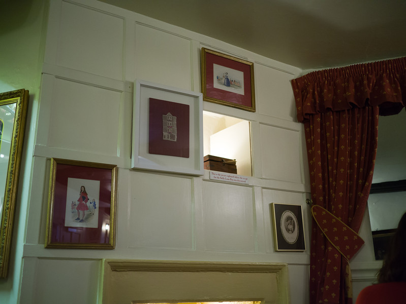 The secret cupboard where the recipe for the Sally Lunn Bun was discovered