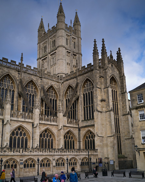 Bath Abbey from the Roman Baths