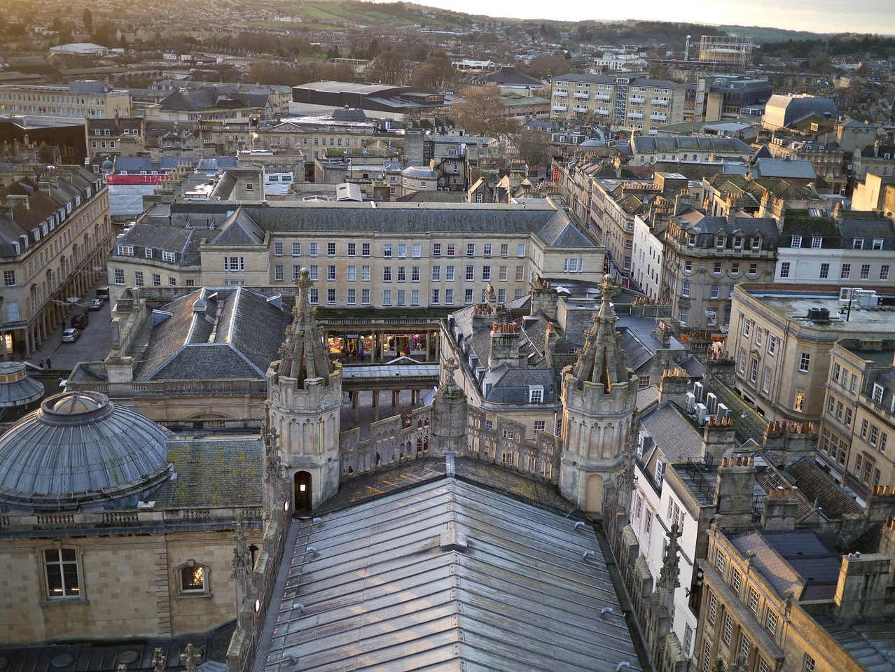 View over Bath from the top of the Abbey