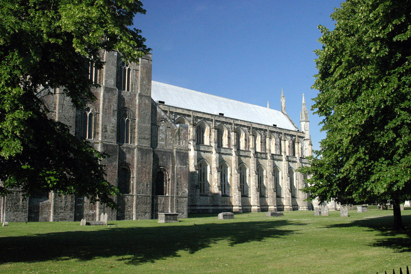 Construction of the cathedral began in 1079 and continued into the 16th century, with restoration in 1905–1912 saving in from a likely total collapse. Winchester Cathedral, England