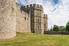 An exterior view of Windsor Castle in Windsor, Berkshire, Great Britain, United Kingdom, Europe.
