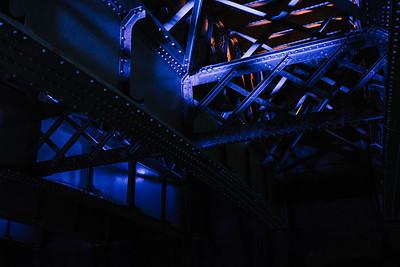 Underside of Blackfriar's Bridge in London