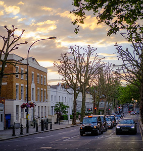 London Street Sunset
