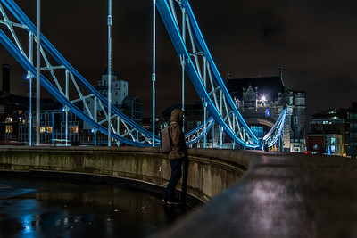 Man on Tower Bridge.