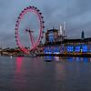 London Eye at dusk.
