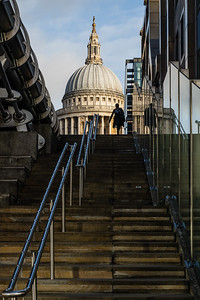 View of St Paul Cathedral in London