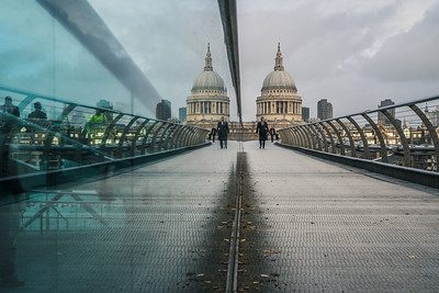 View of St. Paul's Cathedral from Millenium Bridge
