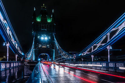 Tower Bridge in London.