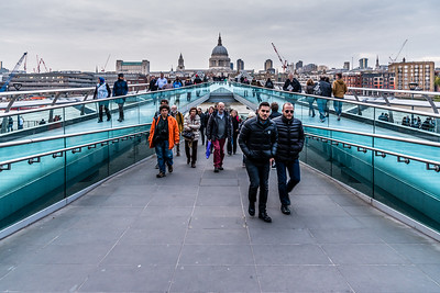 Saint Paul's Cathedral and Millennium Bridge
