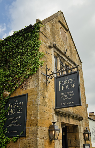 An inn at Stow-on-the Wold, the Cotswolds, England