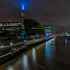 View of The Shard from Tower Bridge.