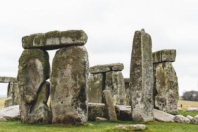 Close Overcast Shot of Stonehenge in England