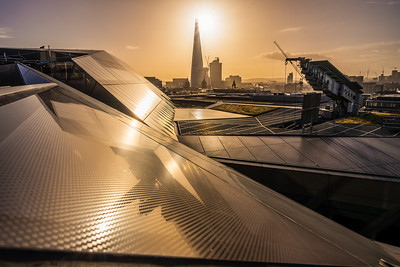 View of The Shard at sunrise