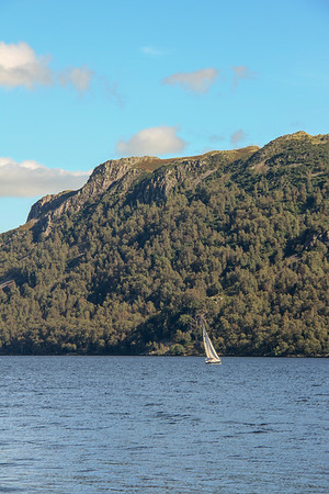 Sailing on Ullswater in the English Lake District