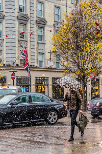 Snow day at Mercer Street in London.