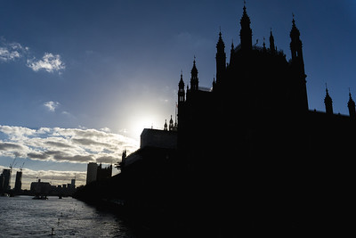 Westminster Abby from the River Thames